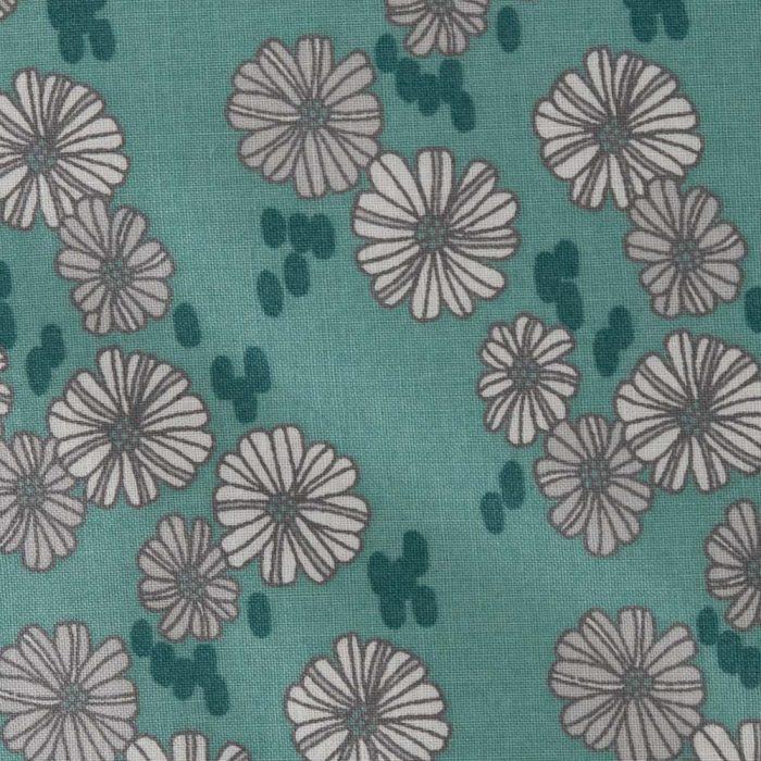 Blue Floral Daisy Print Cushion from Handmade Gift Company