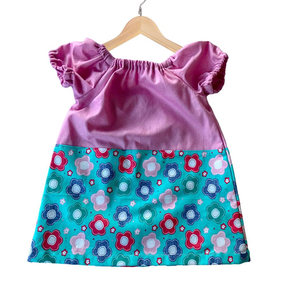 Baby Girls Blue Floral Dress-BD05