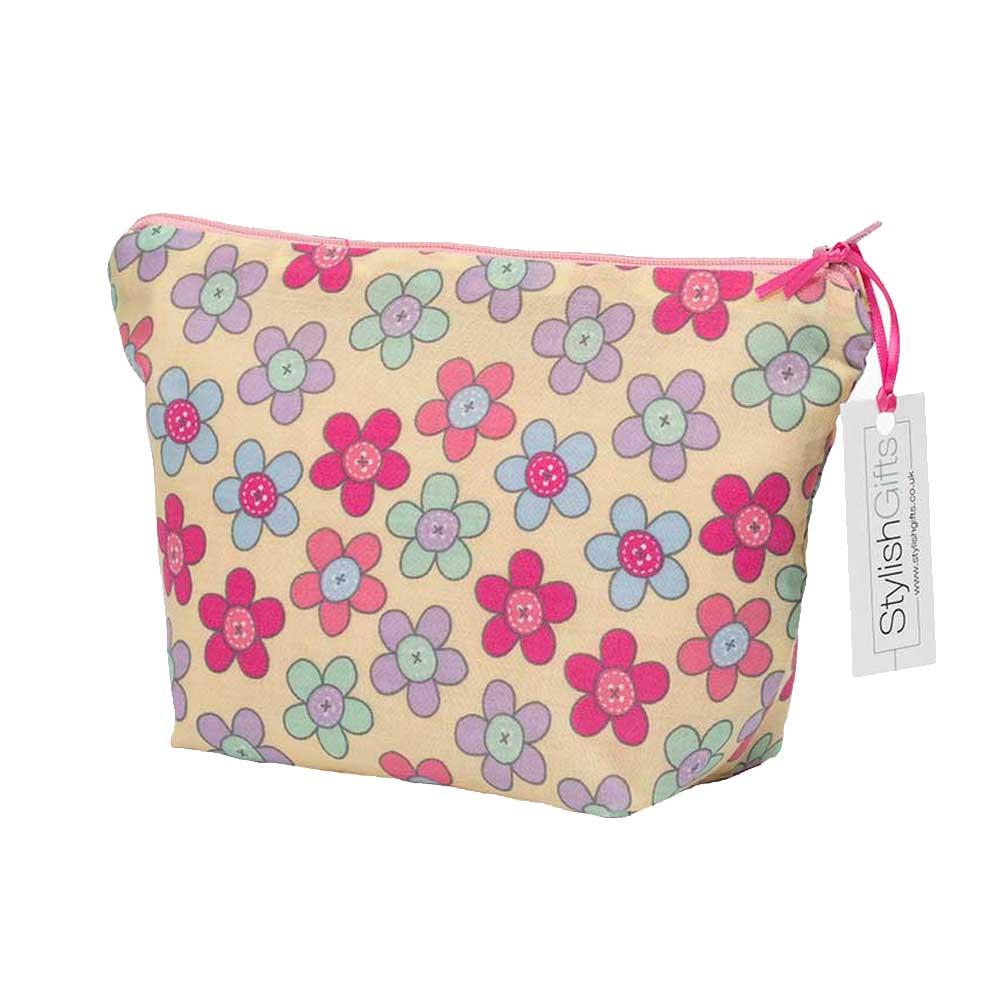 Pink Daisy Cosmetic Bag-UCB29