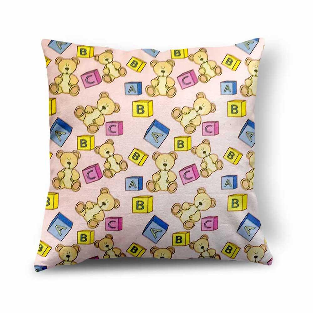 Alphabet & Teddy Design Cushion