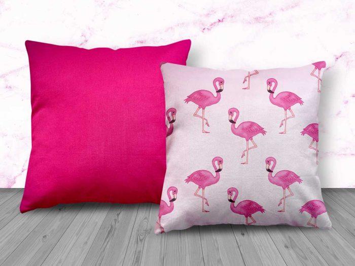 Pink Flamingo Design Cushion from Handmade Gift Company