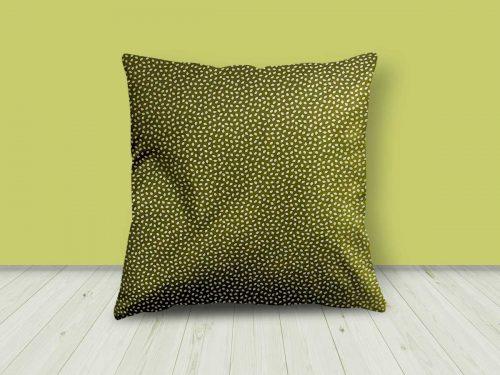 Green/White Leaf Design Cushion