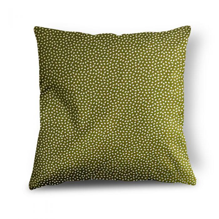 Green & White Leaf Cushion