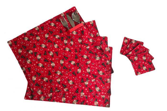 Handmade Christmas Placemats-Fox Design