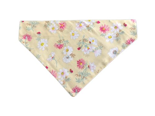 Dog Bandana-Pink/White Floral Design-BDN17