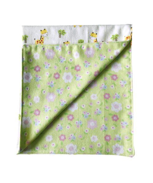 Giraffe and Floral Handmade Baby Blanket