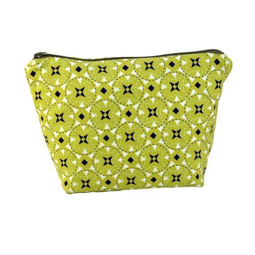 Cosmetic Bag-Green Geometric