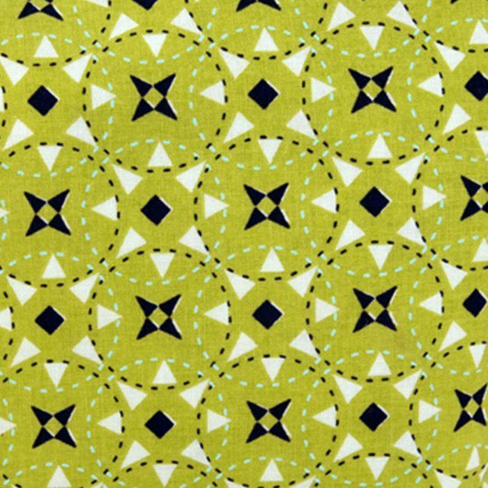 Green Geometric Cosmetic Bag