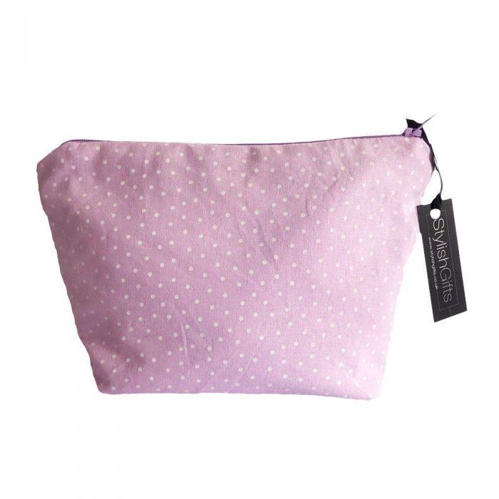 Lilac Dots Cosmetic Bag