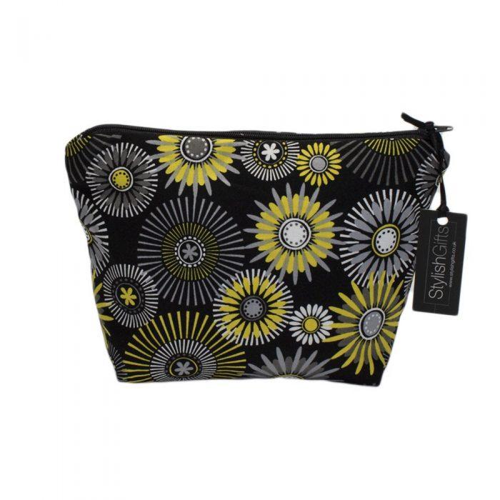 Yellow Geometric Cosmetic Bag