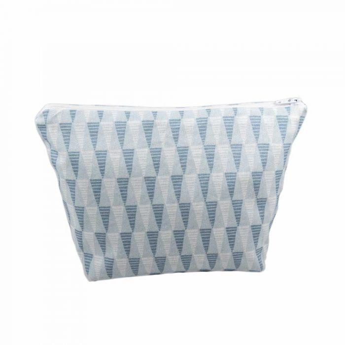 Blue Triangle Cosmetic Bag - Handmade Gift Company