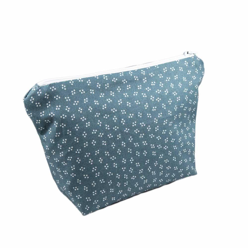 White Dots Cosmetic Bag-Handmade Gift Company
