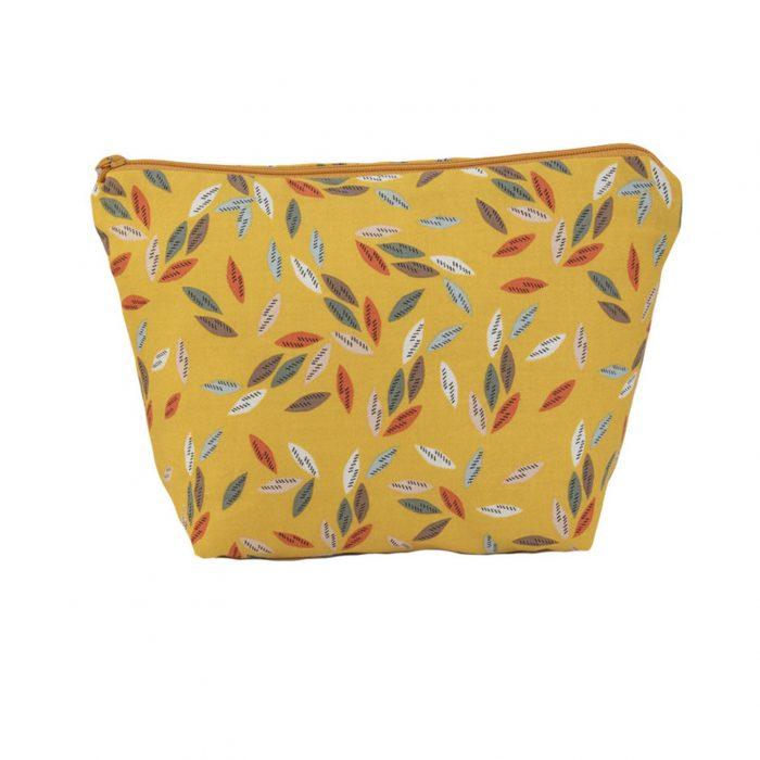 Golden Leaf Cosmetic Bag