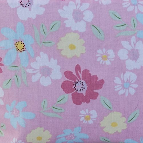 Pink Floral Cosmetic Bag