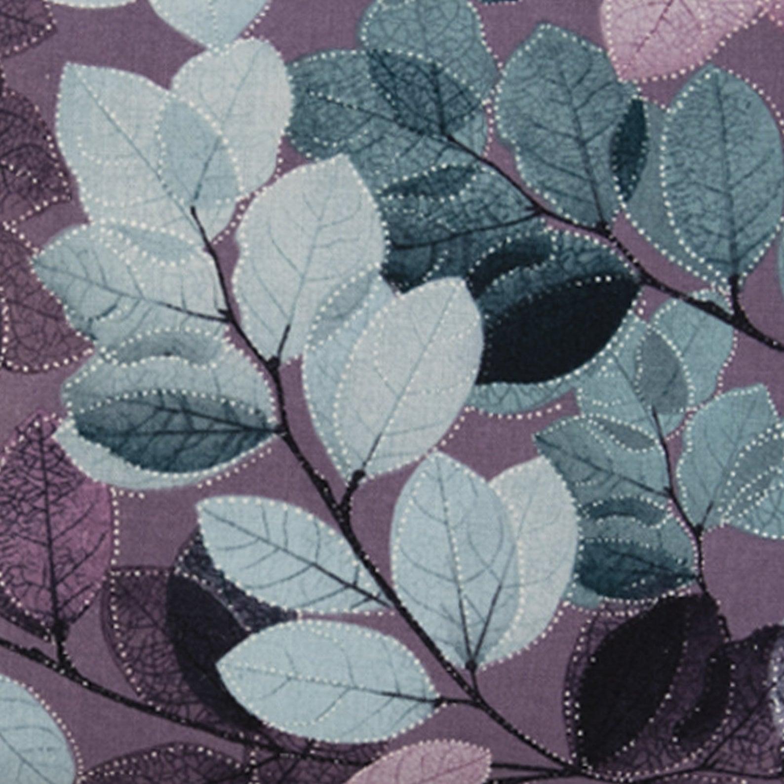 Purple Leaf Cosmetic Bag