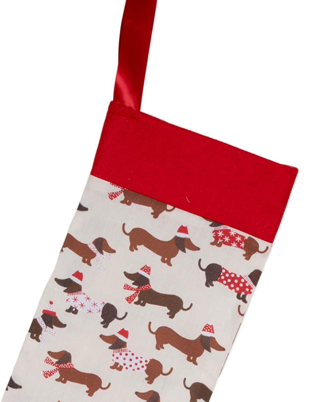 Handmade Christmas Stocking-Cute Daschunds