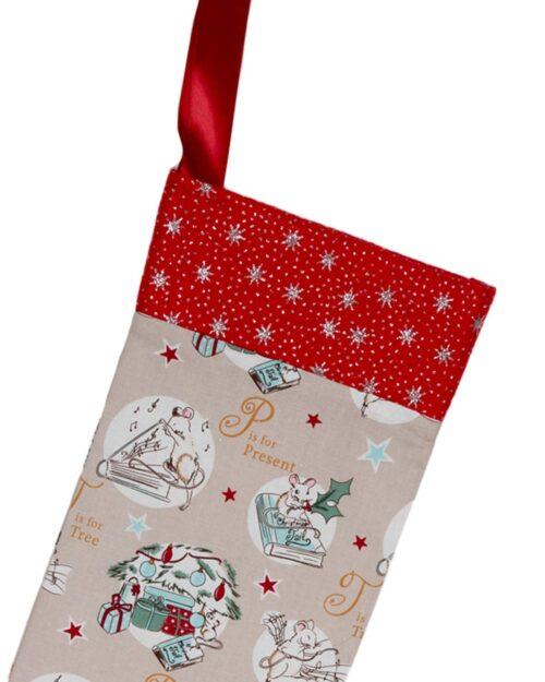 Handmade Christmas Stocking-Little Mice