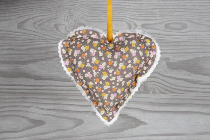 Ditsy Floral Design Hanging Heart Decoration