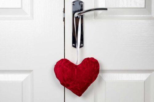Valentine Heart Decoration-Red