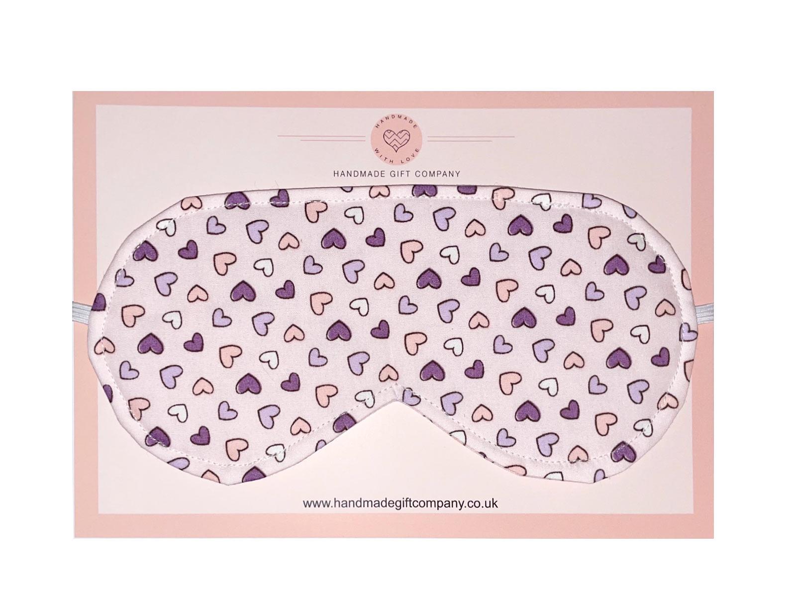 Sleep/Eye Mask-Pink Heart Design