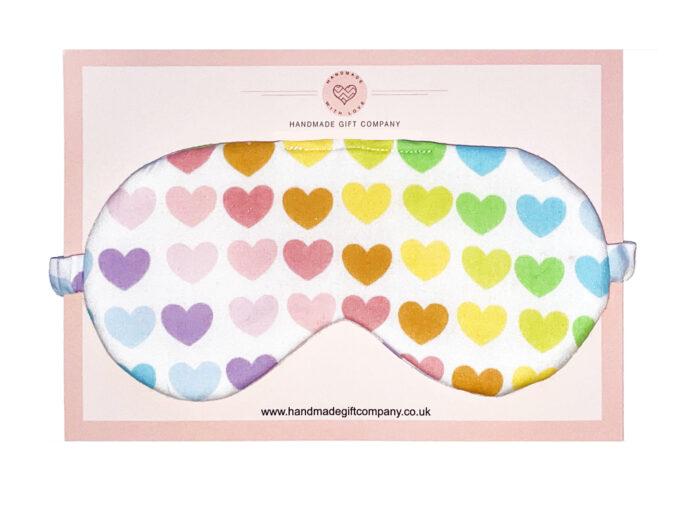 Sleep/Eye Mask Multicoloured Hearts