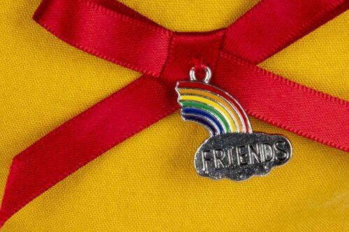 Hanging Heart Decoration-Rainbow