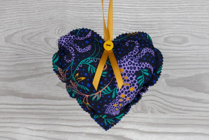 Leopard Print Hanging Heart