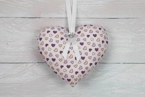 Purple-Lilac Hanging Heart Decoration