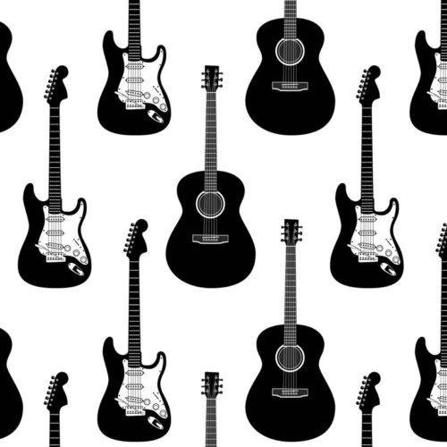 Black-White Guitar Gift Wrap