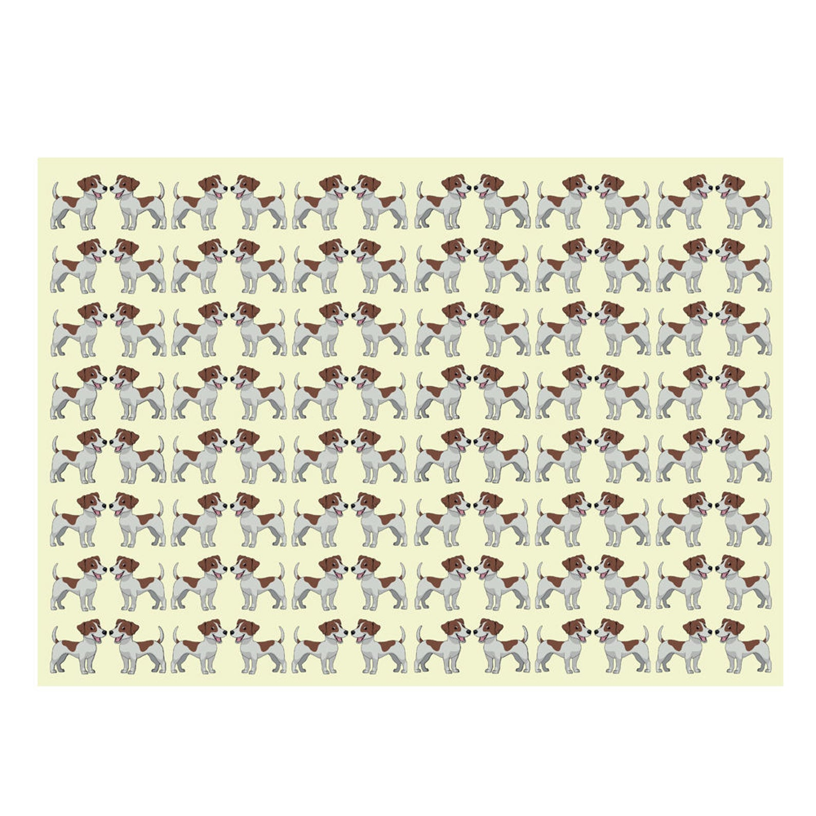 Jack Russell Puppy Gift Wrap-GP79