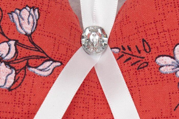 Floral Hanging Heart Decoration-Pink