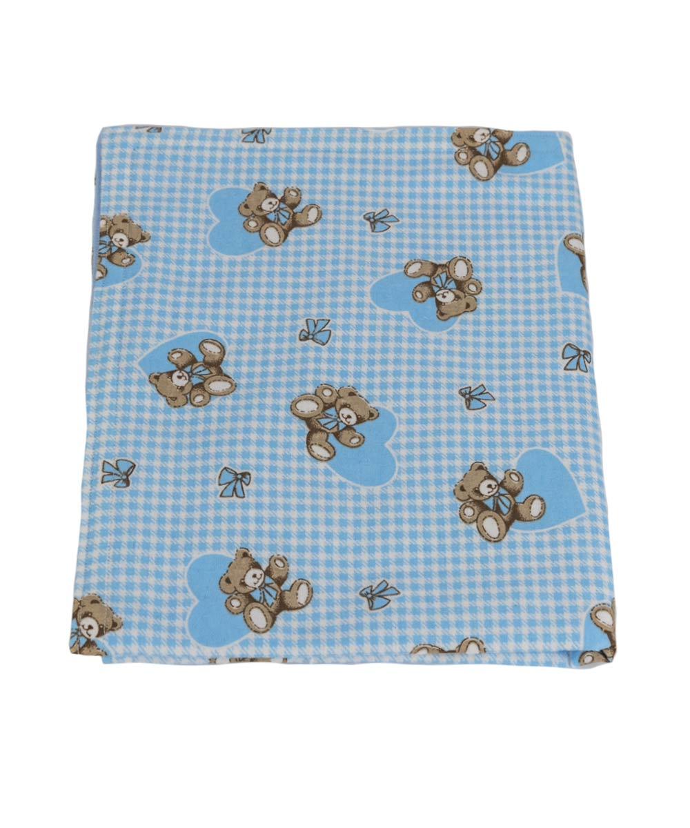 Blue Teddy Bear Blanket