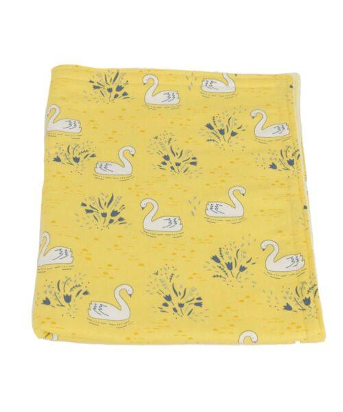 Swans Baby Blanket-Yellow