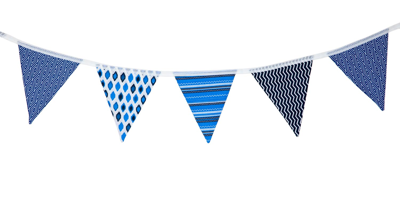 Blue Geometric Design Bunting