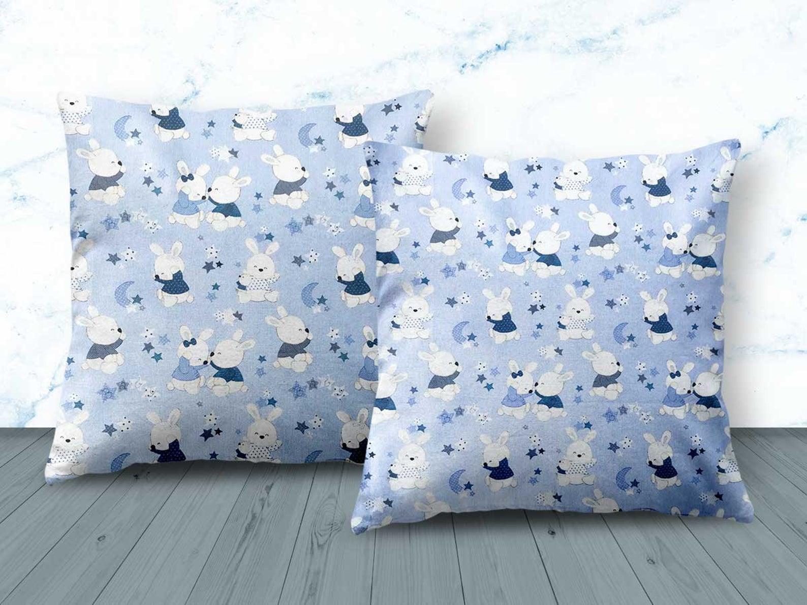 Blue Rabbit Design Cushion