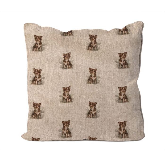 Chihuahua Linen Cushion
