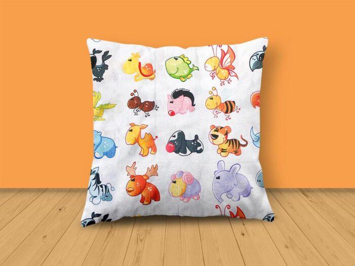 Colourful Animal Design Cushion