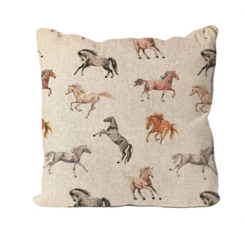Horses Design Cushion
