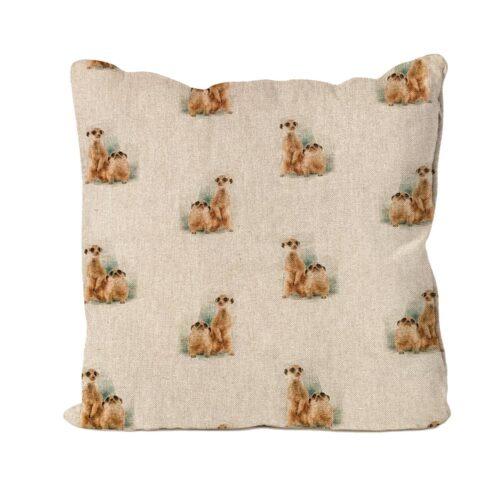 Meerkats Design Cushion