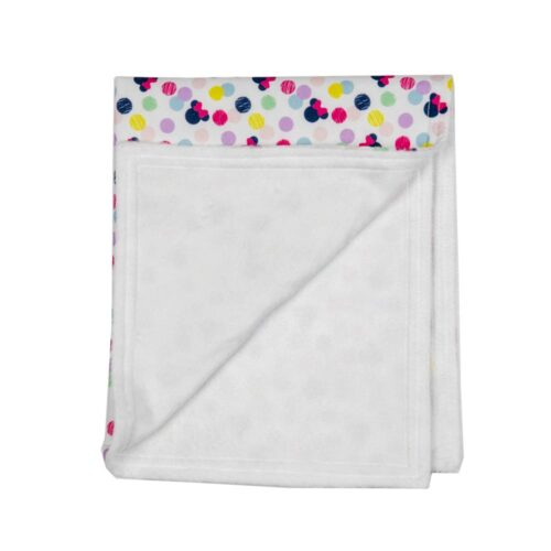Minnie Mouse Baby Blanket-White