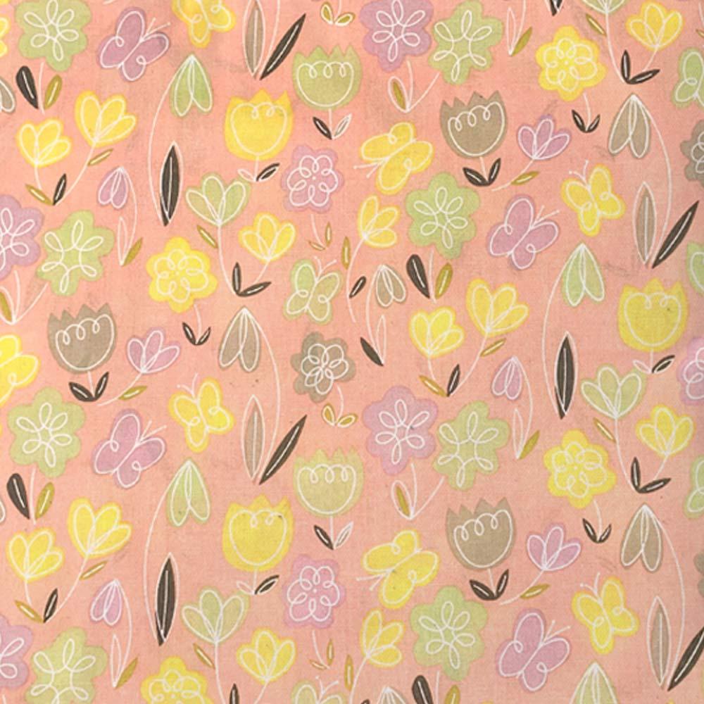 Peach Floral Design Cushion
