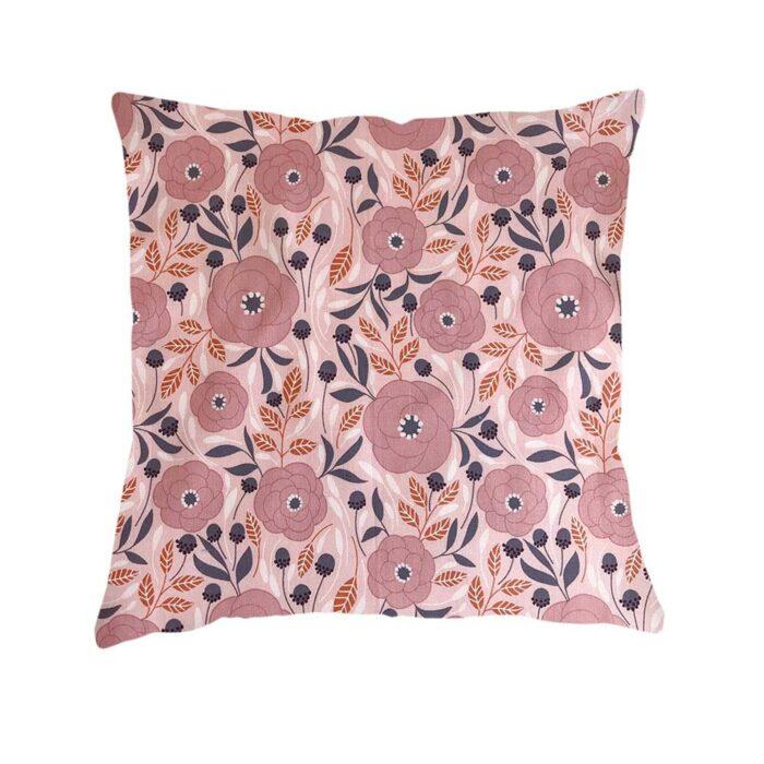 Pink Floral Design Cushion