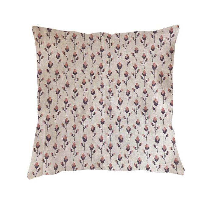 Pink Flowers Design Cushion