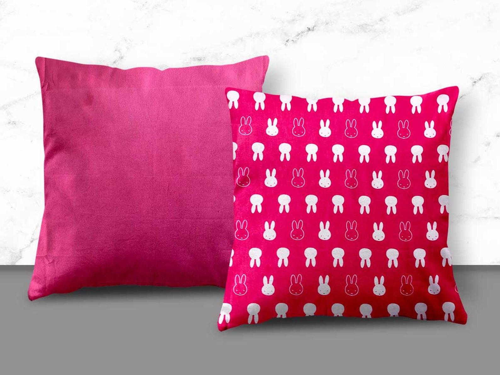 Pink Rabbit Design Cushion