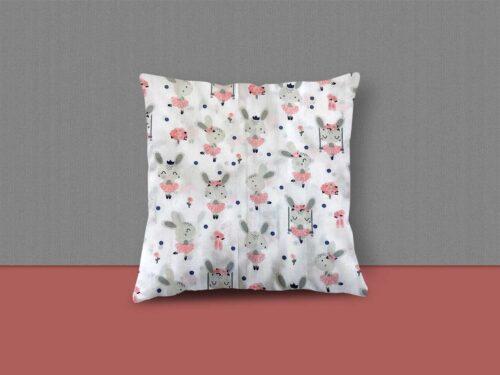 Pink Tutu Rabbit Cushion