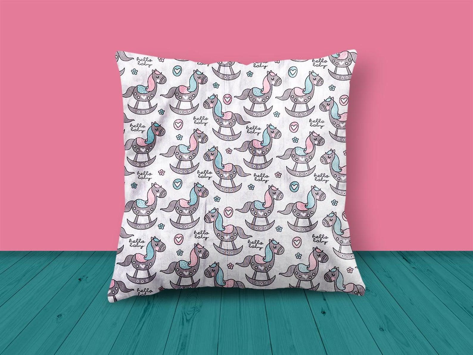 Rocking Horse Design Cushion