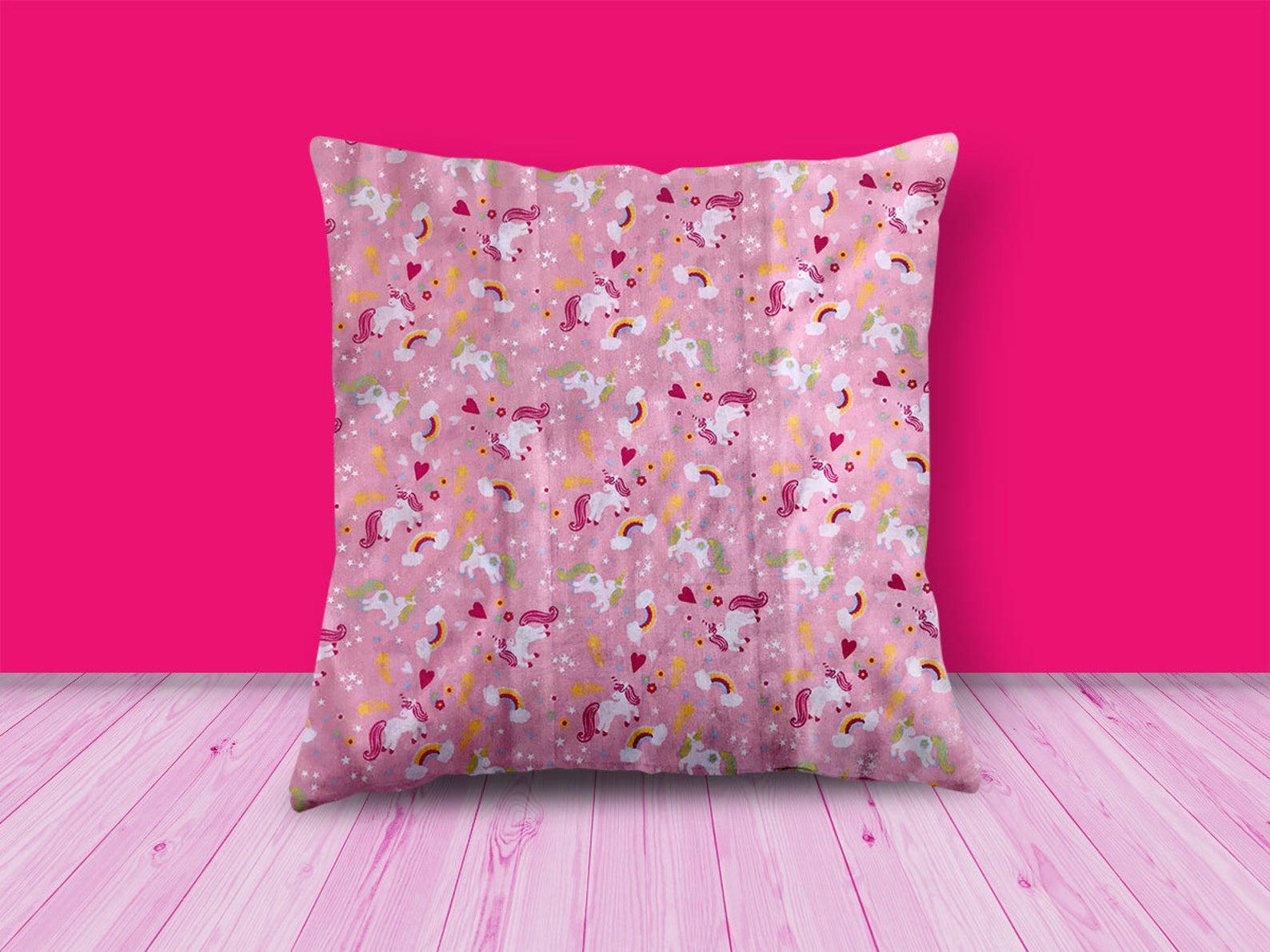 Unicorn Rainbow Design Cushion
