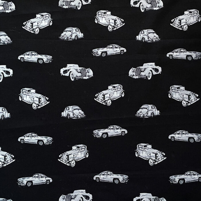 Vintage Car Cushion-Black