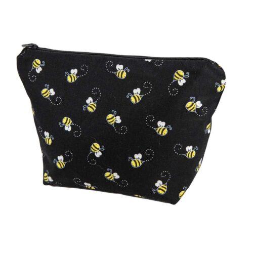 Bees Cosmetic Bag Black