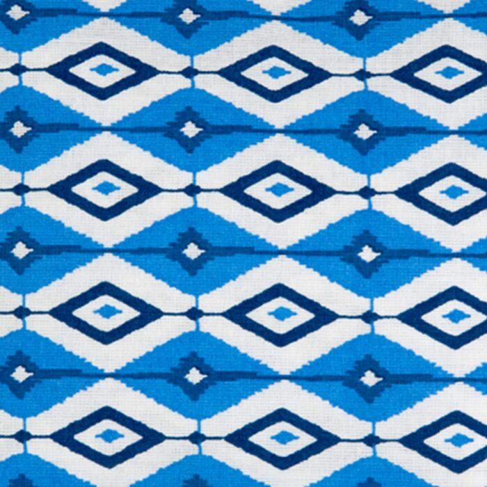 Blue Geometric Cosmetic Bag